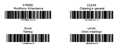 Special Tracking Work Order barcode labels using Code 39 barcode font