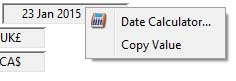 Date Calculator Context Menu