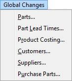 Global Changes Menu