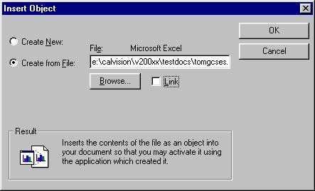 Insert Object Create from file dialog