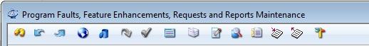 Program Maintenance Reports Toolbar