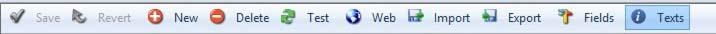 Data View Maintenance toolbar