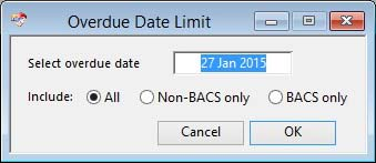 Overdue Date Limit