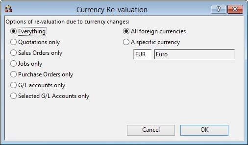 Currency Re-valuation