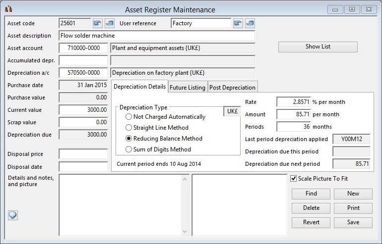 Asset Register Maintenance