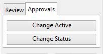 Approvals tab pane