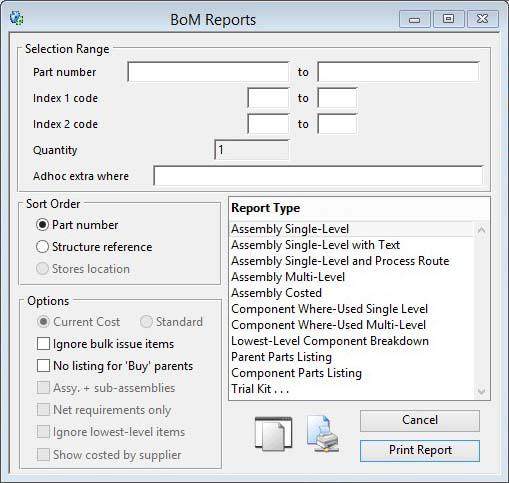 BoM Reports
