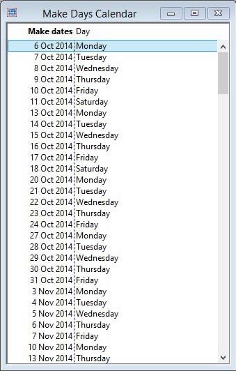 Make Days Calendar