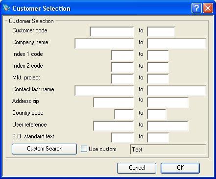 Customer Selection