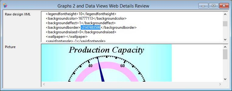 Graphs 2 and Data Views Web Details Review window