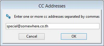 Entering an Email Address