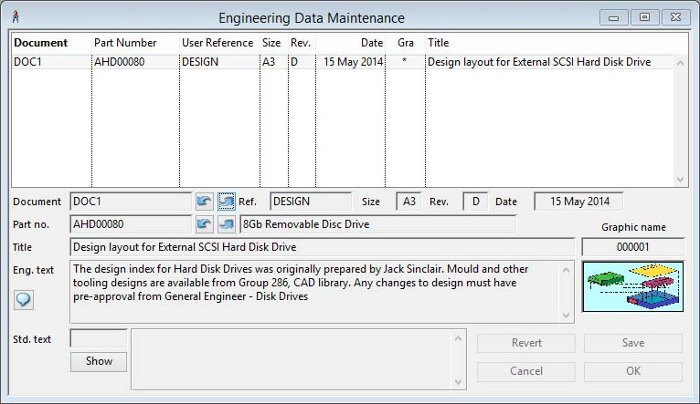 Engineering Data Maintenance