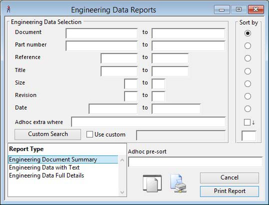 Engineering Data Reports