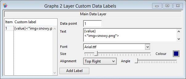 Custom Data Labels window
