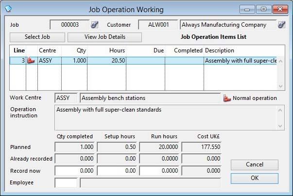Job Operation Working