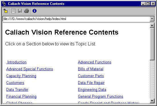 HTML Reader window