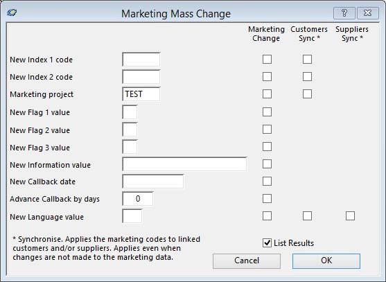 Marketing Mass Change
