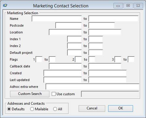 Marketing Contact Selection