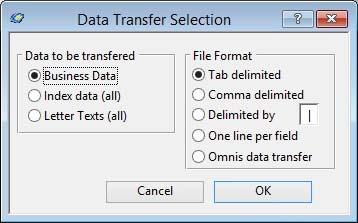 Data Transfer Selection