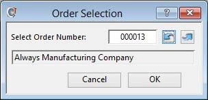 Order Selection
