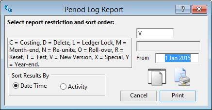 Period Log Report
