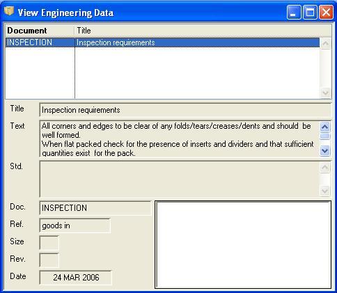 View Engineering Data