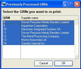 Previously Processed GRNs