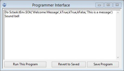 Programmer Interface