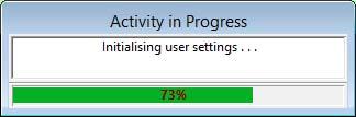 Activity In Progress window
