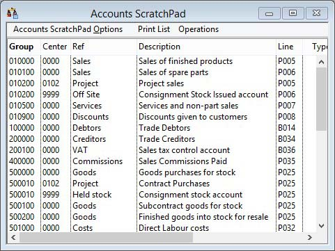 Accounts ScratchPad