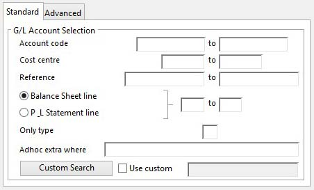 Accounts ScratchPad Selection