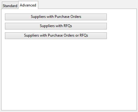 Suppliers ScratchPad Selection - Advanced tab pane