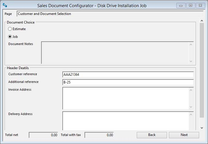 Sales Order Configurator Wizard