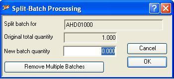 Split-Batch Processing
