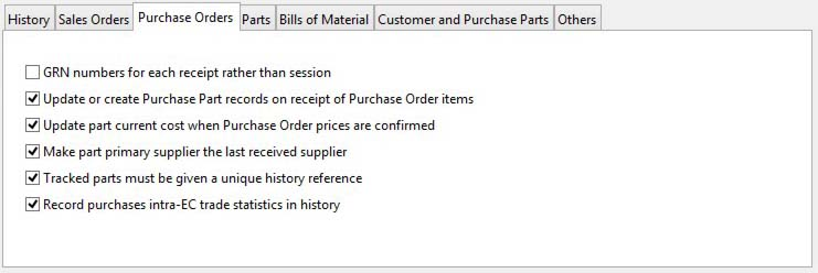 System Preferences - Purchase Orders pane
