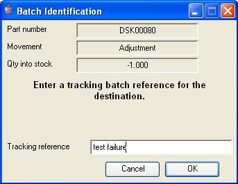 Batch Identification