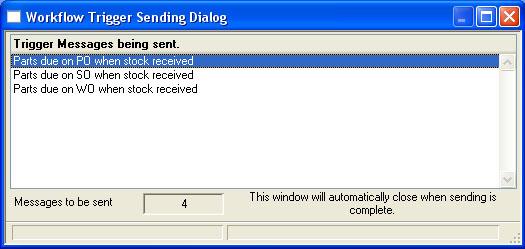 Workflow Trigger Sending Dialog