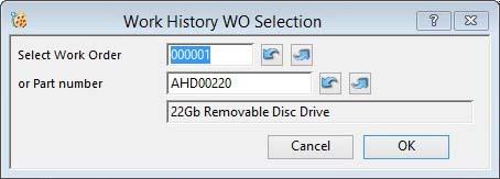 Work History WO Selection