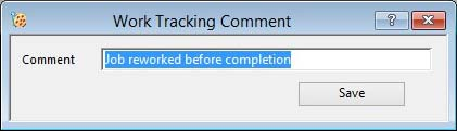 Work Tracking Comment